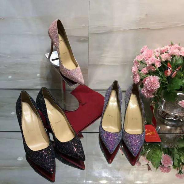 Mode Luxus Designer Schuhe Frau High Heels Designer High Heels Frau Kleid Schuhe Absatzhöhe 10cm, 8.5cm, 6.5cm 35-41 Original-Box