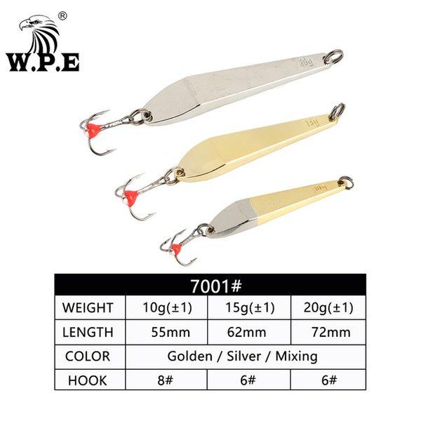 Bağlantı Noktaları Eğlence W.P.e Buz Fishin 1 adet 5/10g / 15g / 20g Sert Balıkçılık Cazibesi Tiz Kanca 8 # / 10 # / 12 # Metal Kaşık Lure Balancers Wobbler ...