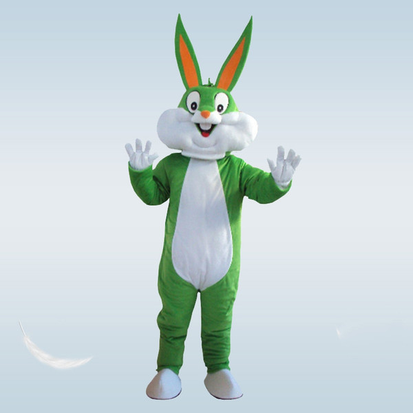Hot Bunny Mascot Costumes Rabbit and Bugs Bunny Adult mascot Rabbit Cartoon Character Costumes fancy dress Halloween