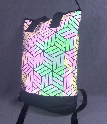 Descuento Mochila streetwear 3D Roll Top en diseño geométrico BP ROLL TOP 3D BOLSA Mochila de viaje Bolsa bolsos de hombro Gimnasio deportivo para correr