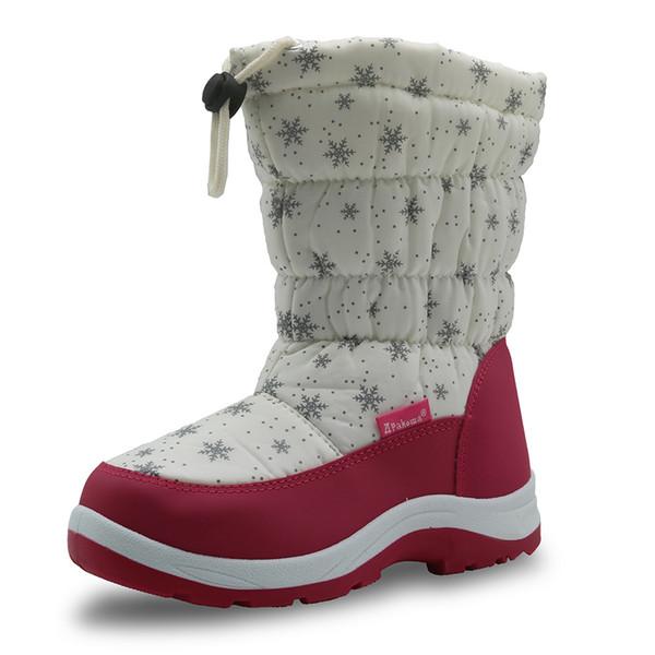 KIDS INFANT WINTER SNOW BOOTS SCHOOL HIKING CASUAL SHOE BLACK WARM SIZE 12-3