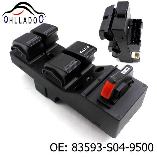 top popular HLLADO High quality Electric Power Window Switch 83593-S04-9500 83593S049500 For H onda Ci vic CX EX HX LX Si 4 Door 1996-2000 2021