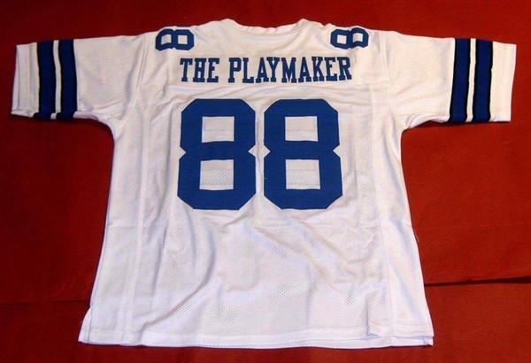 Barato retro # 88 MICHAEL IRVIN CUSTOM MITCHELL NESS Jersey O PLAYMAKER branco Mens Costura Top S-5XL, 6XL Camisas De Futebol Em Execução