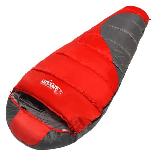 Hooded Sleeping Bag Travel Portable Autumn Winter Outdoor Camping Warm Adjustable Waterproof Multifunctional Storage Adults