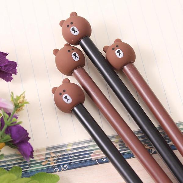 best selling Cute Bear Signture Pen Stationery Pen Writing Cute Writing Pen