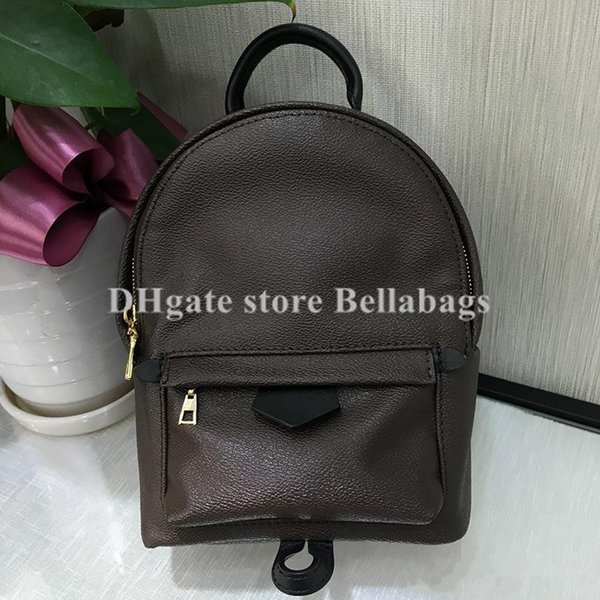 High Quality Women Girl Backpack school bag brand designer fashion with date code serial number