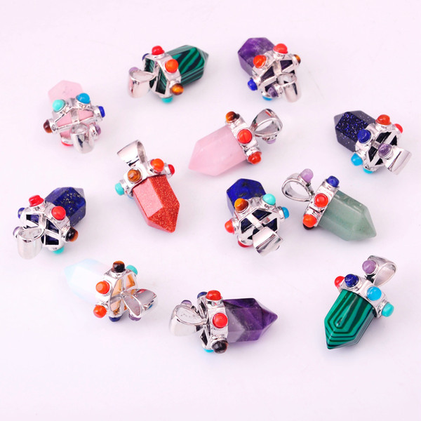 7 Chakra Pendant Hexagonal Stone 2019 Female Crystal Gem Treasure Jewelry Necklace