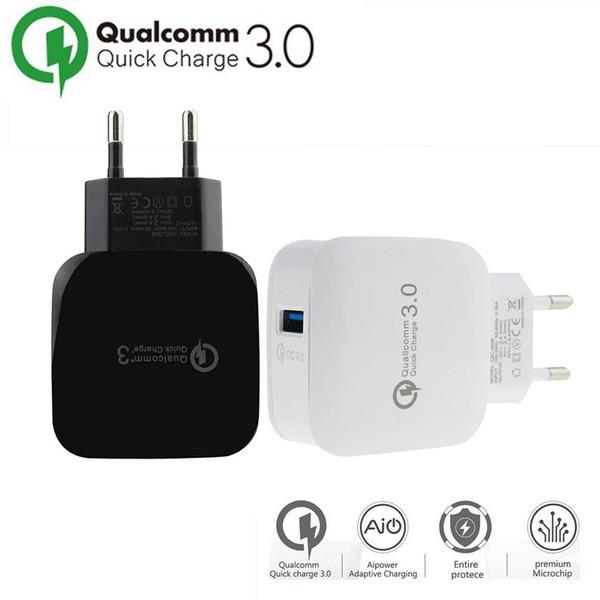 Быстрая зарядка 3.0 15W Travel Wall Быстрое зарядное устройство USB Fast Cable Xiaomi Прямые зарядные устройства для iphoneX XS Samsung Huawei USB зарядное устройство