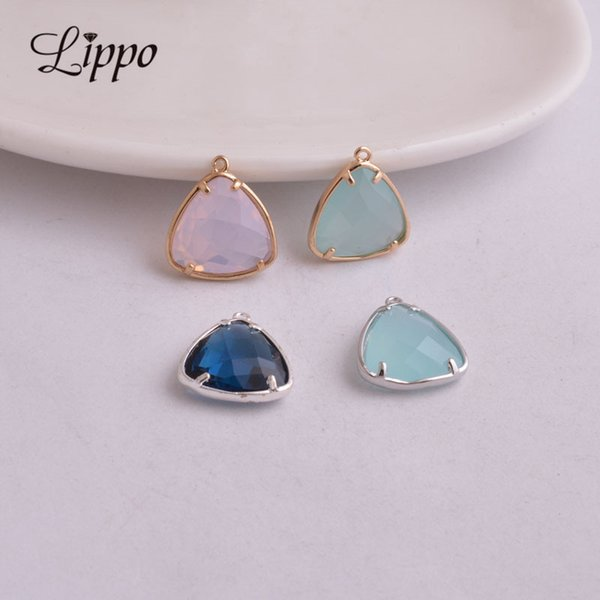 10pcs Charms Heart Crystal Earring Bracelet Necklace Finding Pendant Bead 14mm
