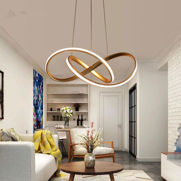 Acquista Oro Bianco Moderno LED Luce A Sospensione Soggiorno Camera Da  Letto Sala Da Pranzo Lampada A Sospensione Lampada A Sospensione A LED ...