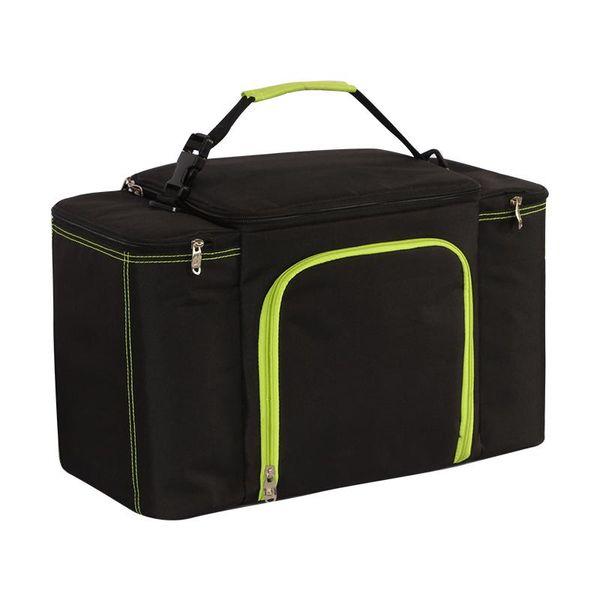 27L süper büyük kapasiteli su geçirmez soğutucu çanta büyük piknik öğle yemeği kutusu araç yalıtım serin omuz çantası buz paketi taze çanta