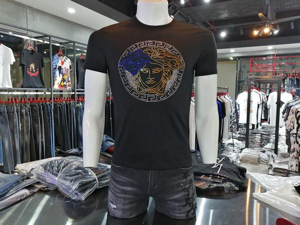 Juventus Jersey francés Marca de moda 2019 nuevos modelos de explosión clásicos casual camiseta de manga corta para hombres ropa de mujer tamaño