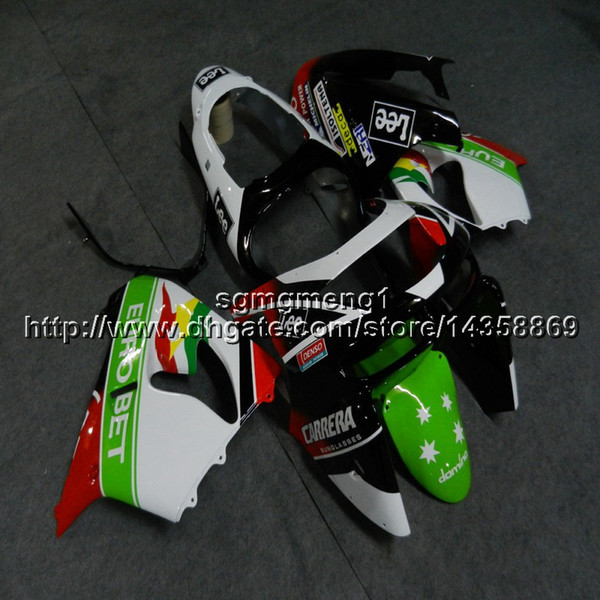 23colors+Botls red green white motorcycle cowl for Kawasaki ZX9R 1998-1999 ABS Plastic Fairing ZX-9R 98 99