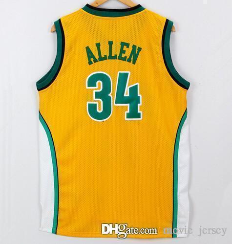pretty nice 427d1 158a0 2019 Milwaukee Vintage 34 Allen Bucks Jersey Seattle Ray Men Basketball #13  Robinson 1 Oscar Glenn Robertson Jerseys All Stitched From Movie_jersey, ...