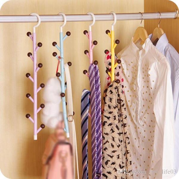 Ties Clothes Hanger Closet Rotating Bag Key Holder Organizer Jewelry Belts Scarf Hat Space Saver Tie Handbag Necktie Storag Hook