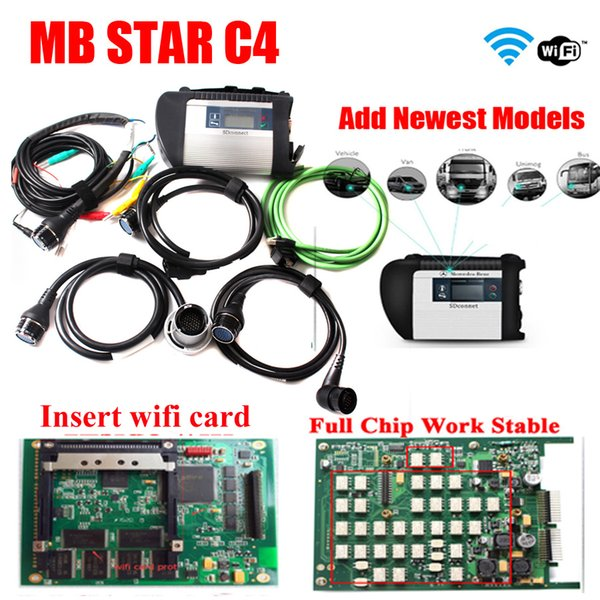2019 Super quality MB Star C4 Multiplexer mb sd connect compact 4 diagnostic tools full set cable No HDD Professional diagnosis