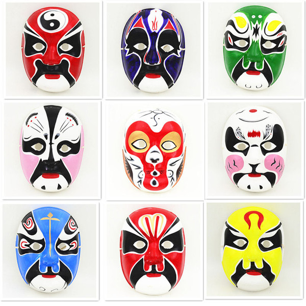 Ethnic Beijing Opera Party Mask Masquerade Masks Mens Decorating Full Face Paper Pulp China Crafts Wholesale