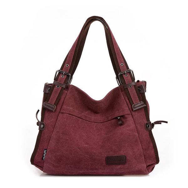 Fashion Vintage Canvas Bag Shoulder Messenger Hand Bags Totes Canvas Casual Tide Bag Hot Sale Handbag For Women Female Big Tote