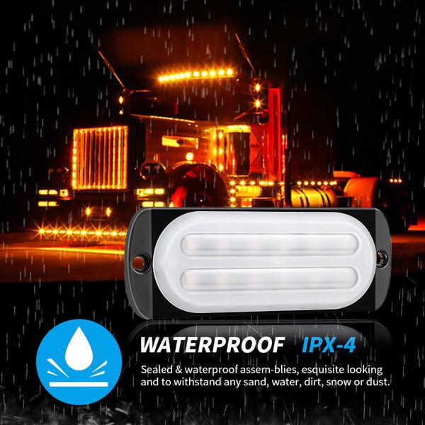 best selling 12-24V light guide 12LED truck strobe ultra-thin side light signal warning light