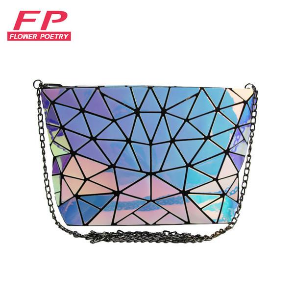 2017 Famous Bao Bags Women Diamond Lattice Fold Over Bags Women Handbags Small Chain Shoulder Bags Messenger Bag bao Bolsa Y190606