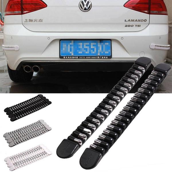 yentl free shipping 4pcs Bullet Shape Car Anti Collision Strip Bumper Corner Car Sticker Decal Protector Guard Scratch Decoration Molding