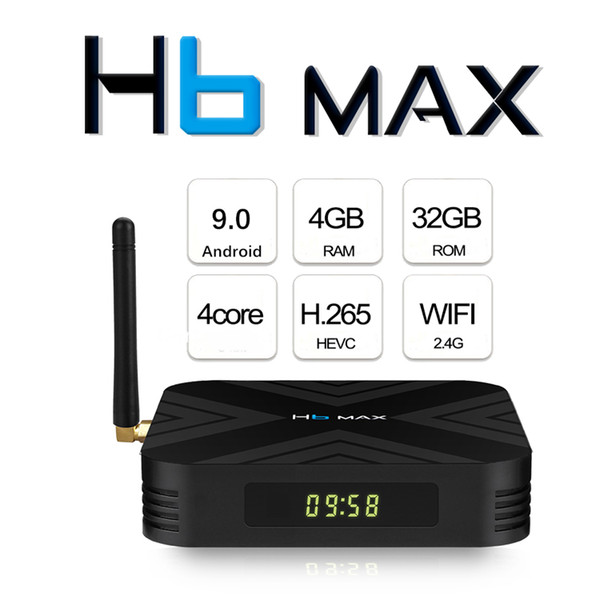 best selling 2019 Hottest H6 MAX 4GB 32GB Android 9.0 TV Box Support 6K 4K IPTV Media Player PK X96 MINI H96 MAX