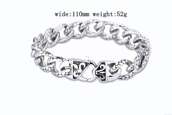 Bracelet de créateur Poids: 52 g Longueur: 210 mm Largeur: 110 mm Acier au titane Bracelet Collier pour hommes Collier pour femmes