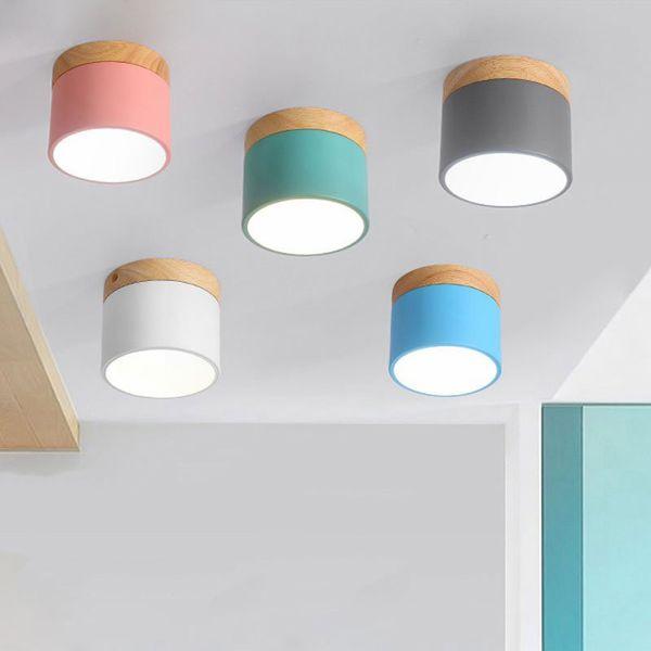 DHL Nordic legno ferro luci di soffitto moderna lampada principale del soffitto per il salone da letto Luminaire Portico Corridoio Corridoio apparecchi di illuminazione