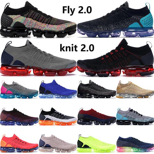 2019 2 0 Best Selling Preto Multi Color Be True Fly. Correndo Homens Mulheres Gunsmoke azul Orbit Mens Grey Designer Sneakers Outdoor Shoes