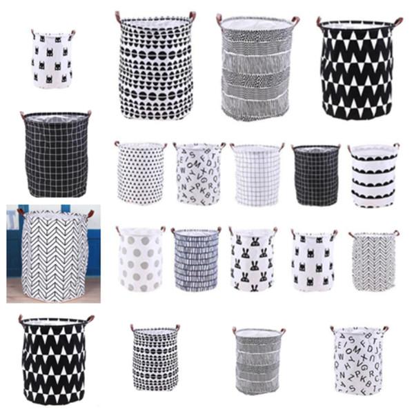 top popular Household folding laundry basket cartoon storage bucket standing toy clothing storage bucket toy storage basket homeT2I5139 2019