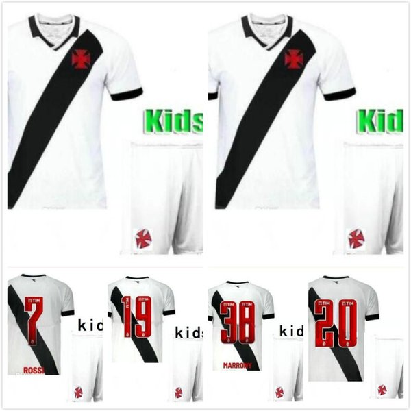 kids kit 2019 2020 Vasco Gama jersey MAXI Y.PIKACHU A. RIOS PAULINHO top quality soccer jerseys 19 20 Da Gama home away football shirts