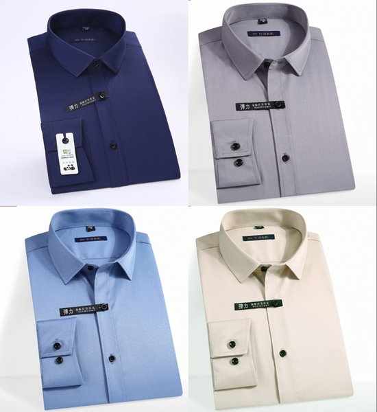 Classic Non Ironing Men Dress Shirts Long Sleeve Plus Size Formal Groom Wear Business Male Work Office Shirts Club Shirts Custom Tee Shirt From