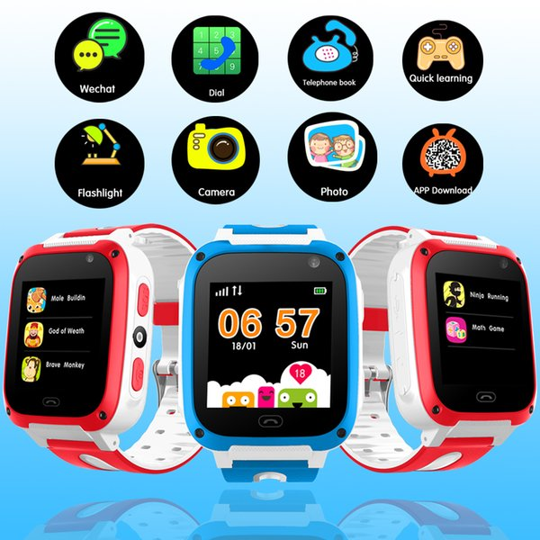 Smart Watch for Child Connection Phone Mobile APP Positioning Tracker SOS Phone Emergency Security Smart Watch Gifts for Boys