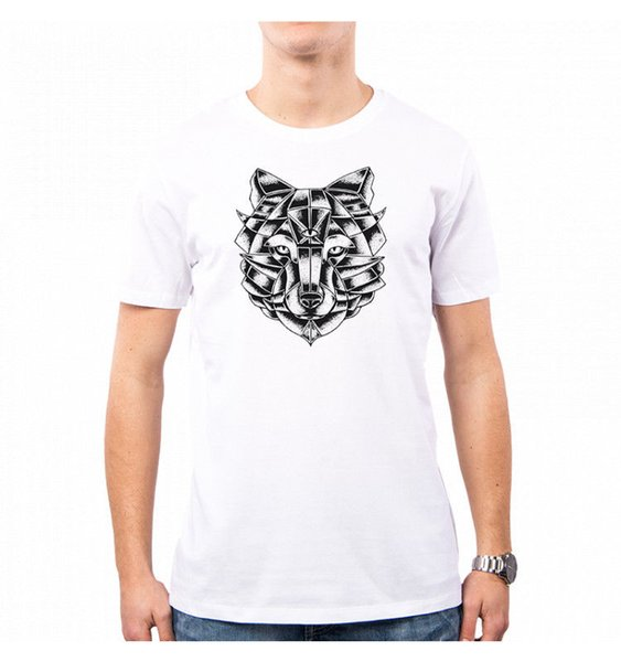 T-SHIRT UOMO WOLF LUPO ANIMAL HE0027A pantalon blanc noir gris rouge t-shirt chapeau t-shirt rose