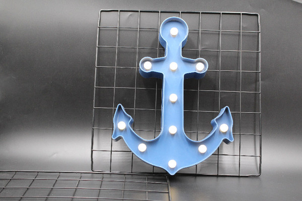 3D Anchor LED Night Light Cute Marquee Vintage Lights For Children Kids Gift Bedroom Living Room Indoor Home Decor 2019 new