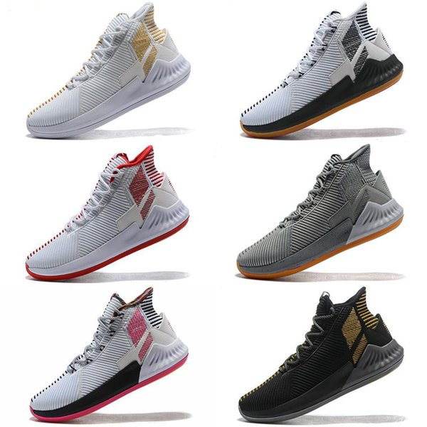 D Rose 9 Kids Basketball Shoes Men High Cut IX Newest Sneakers Derrick Rose 9S Grey Blue Black Gold Trainers