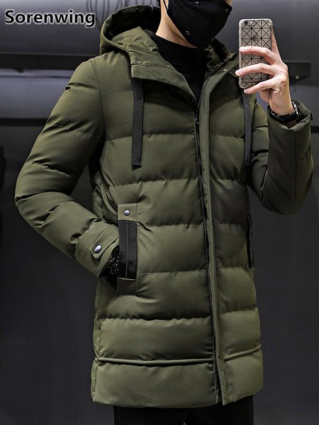 2018 quality parka men winter long jacket men brand thickening windbreakers mens winter down jackets parkas hombre invierno 261