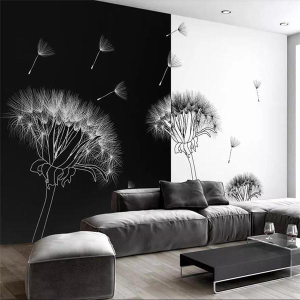 Modern Style Black And White Dandelion