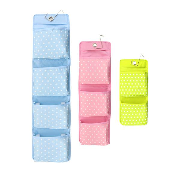 Large Pocket Dot Oxford Cloth Storage Bag Wall Door Hanging Storage Bag Sundries Storage Organizers