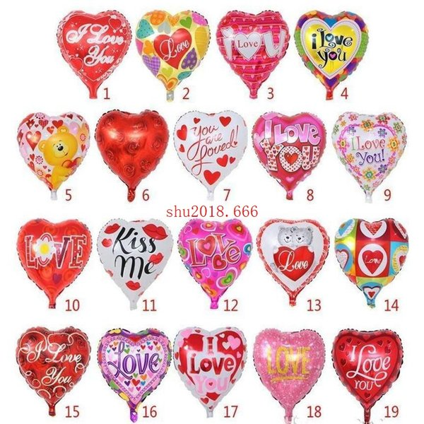 1000pcs 18Inch Valentine's Day Gifts Wedding Decoration Inflatable Globos for Holiday I LOVE YOU Balloons