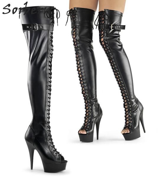 Sexy Fetish High Heel Boots Women Custom Wide Calf Fit Kinky Boots Unisex 15Cm Heels Multi Colors Long Women Boot Shoes