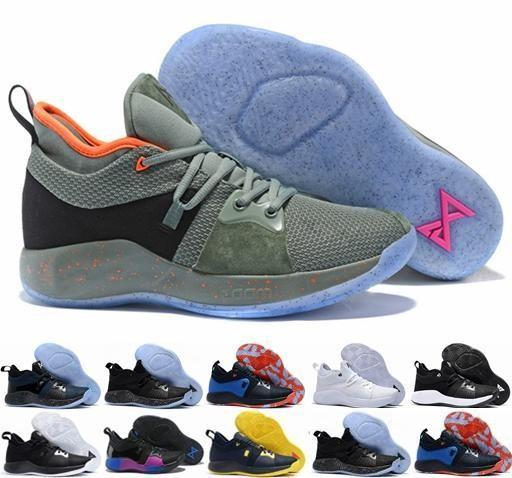 2018 High Quality Paul George 2 PG II Basketball Shoes for Men Cheap PG2 2S Starry Blue Orange All White Black Sports Sneakers