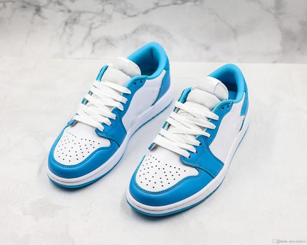 Mit Box SB 1s UNC Herren Damen Basketballschuhe 4 North Carolina Blue Saphirblau Powder Trainer Design von Eric Koston