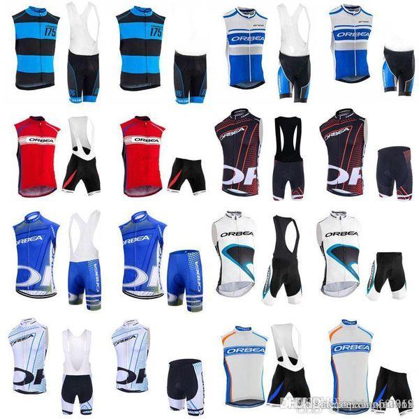 Команда ORBEA Велоспорт майка без рукавов майка (нагрудник) шорты комплекты дышащей быстросохнущие летние горный велосипед езда одежда E0502