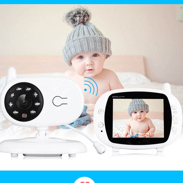 Wireless 3.5-inch color video monitor Baby Monitor with Night Vision for baby high-resolution night vision security camera
