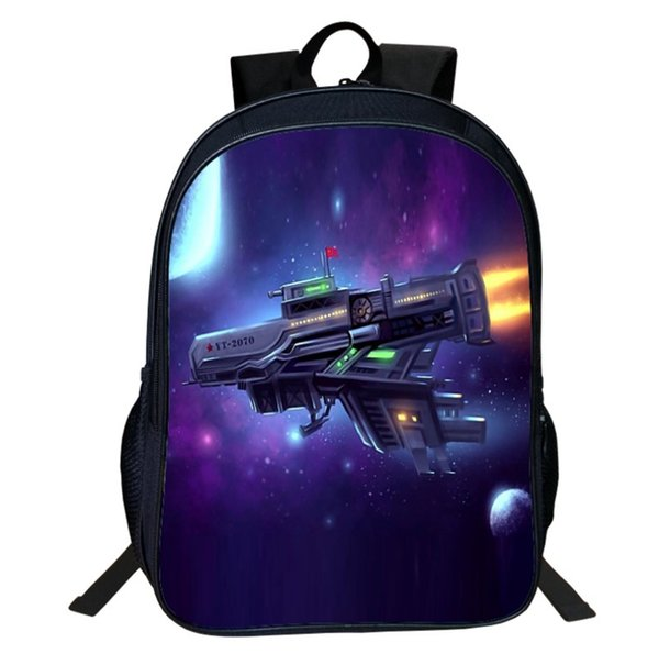 Cartoon fighter Printing Children Girls School Bags For Teenage Casual Daily laptop Backpacks V06