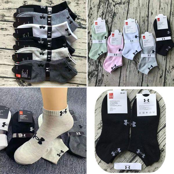 best selling U&A pink black Ankle socks unisex sports cheerleading short cotton socks mixed color socks women for men