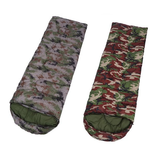 Camouflage Ultra-Light Camping Sleeping Bag 400g Hollow Cotton Envelope Type Army Storage Bag Outdoor Travel Nap Bags