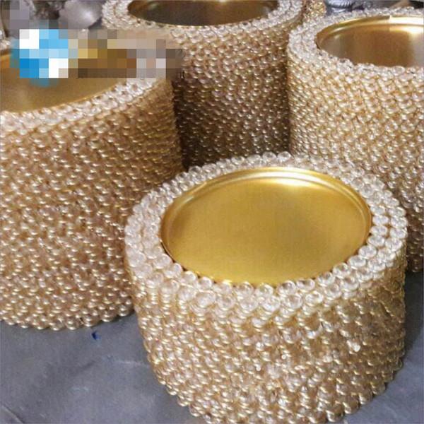 Nouveau style plaque de chargeur d'argent d'or bling pour le mariage senyu0486 décoratif