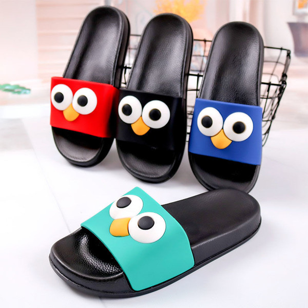 Hot Sale- Women Summer slippers Women Cute Cartoon Slippers Couple Bathroom Shoes Indoor Thermal Home shoes Flip Flop 6 Styles